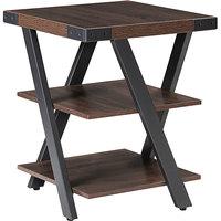Safco MRETSTO Mirella 20 inch x 20 inch x 25 inch Southern Tobacco End Table