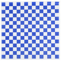 Choice 15 inch x 15 inch Blue Check Deli Sandwich Wrap Paper - 4000/Case