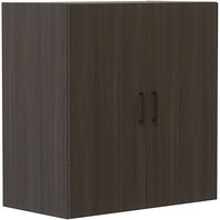 Safco MRWDCSTO Mirella 36 inch x 20 inch x 38 inch Southern Tobacco Display Cabinet with Wood Doors