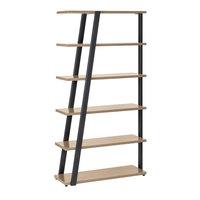 Safco MRBS5SDD Mirella 36 3/4 inch x 13 1/2 inch x 67 1/2 inch Sand Dune 5-Shelf Bookshelf