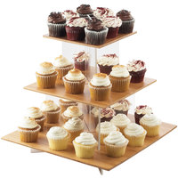 Cal-Mil 1318-60 Cupcake Display with Bamboo Shelves - 20 inch x 20 inch x 17 1/4 inch