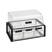 Vollrath NBCBB33F-06 Cubic Full Size Set Nose Acrylic Pastry Display Case with Full Drawer and Black Frame