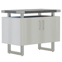 Safco MRSCT36SGY Mirella 36 inch x 20 inch x 29 1/2 inch Stone Gray / White Ash Storage Cabinet with Wood Doors