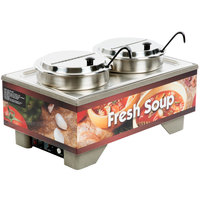 Vollrath 720202003 Full Size Soup Merchandiser Base with 7 Qt. Accessory Pack and Country Kitchen Graphics - 120V, 1000W