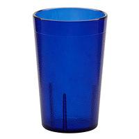 Carlisle 550647 Stackable 9.5 oz. Royal Blue SAN Plastic Tumbler - 72/Case
