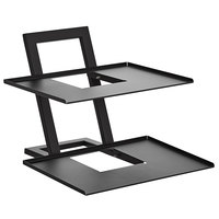 Vollrath ANSTAND Cubic 21 1/2 inch x 21 inch Angled Modular Display Stand with (2) 17 inch Shelves