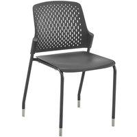 Safco 4287BL Next Black Stackable Chair - 4/Case