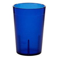Carlisle 552647 Stackable 8 oz. Royal Blue SAN Plastic Tumbler - 72/Case