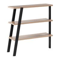 Safco MRBS3SDD Mirella 36 inch x 13 1/2 inch x 38 inch Sand Dune 3-Shelf Bookshelf
