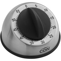 CDN MT1 Heavy-Duty Stainless Steel Mechanical 60 Minute Kitchen Timer