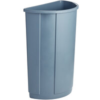 Lavex Janitorial 21 Gallon Gray Half Round Trash Can