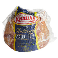 Knauss Foods 3 lb. Classic Dried Beef 1/2 Knuckle   - 2/Case