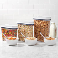 OXO 11113900 Good Grips 2.5 Qt. POP Cereal / Ingredient Dispenser with White POP Lid