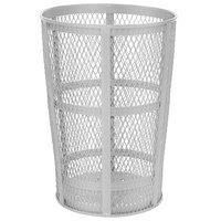 Rubbermaid FGSBR52 180 Qt. / 45 Gallon Round Galvanized Steel Street Basket