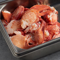 Boston Lobster Company 4 lb. Fresh Claw and Knuckle Lobster Meat - 2/Case