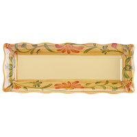 GET ML-87-VN Venetian 17 inch x 6 3/4 inch Scalloped Melamine Rectangular Display Tray