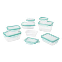 OXO 11179700 Good Grips 16-Piece Smart Seal Container Set with Leak Proof Snap On Lids