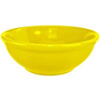 International Tableware CA-15-Y Cancun 13 oz. Yellow Stoneware Nappie / Oatmeal Bowl - 36/Case