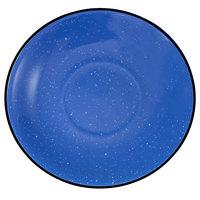 International Tableware CF-2 Campfire 6 inch Speckle Ocean Blue Rolled Edge Stoneware Saucer - 36/Case