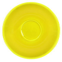 International Tableware CA-36-Y Cancun 5 1/8 inch Yellow Stoneware A.D. Saucer - 36/Case