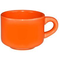 International Tableware CA-23-O Cancun 7 oz. Orange Stoneware Stacking Cup - 36/Case