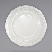 International Tableware AT-8 Athena 9 1/2 inch Ivory (American White) Wide Rim Rolled Edge Plate - 24/Case