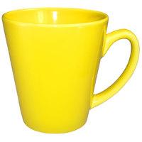 International Tableware 839-242 Cancun 12 oz. Yellow Stoneware Funnel Cup - 36/Case