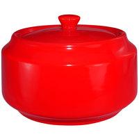 International Tableware CA-61-CR Cancun 13 oz. Crimson Red Stoneware Sugar Bowl with Lid - 12/Case