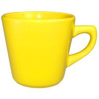 International Tableware CA-1-Y Cancun 7 oz. Yellow Stoneware Tall Cup - 36/Case