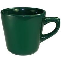 International Tableware CA-1-G Cancun 7 oz. Green Stoneware Tall Cup - 36/Case
