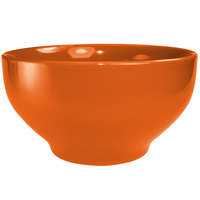 International Tableware CA-44-O Cancun 48 oz. Orange Stoneware Footed Bowl - 12/Case