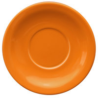 International Tableware CAN-2-O Cancun 5 1/2 inch Orange Stoneware Narrow Rim Saucer - 36/Case