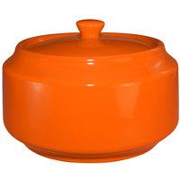 International Tableware CA-61-O Cancun 13 oz. Orange Stoneware Sugar Bowl with Lid - 12/Case