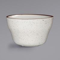 International Tableware GR-4 Granada 8.5 oz. Ivory (American White) Brown Speckled Stoneware Bouillon - 36/Case