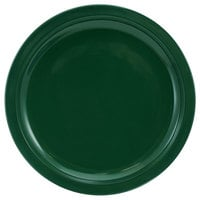 International Tableware CAN-16-G Cancun 10 5/8 inch Green Stoneware Rolled Edge Narrow Rim Plate - 12/Case