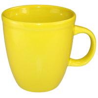 International Tableware 81950-242 Cancun 17 oz. Yellow Stoneware Mocha Mug - 36/Case