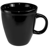 International Tableware 81950-05 Cancun 18 oz. Black Stoneware Mocha Mug - 36/Case