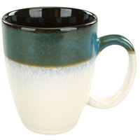 International Tableware 4415-159 Sioux Falls 15 oz. Blue to White Stoneware Endeavor Cup - 24/Case