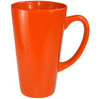 International Tableware 867-210 Cancun 16 oz. Orange Stoneware Funnel Cup - 24/Case