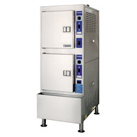 Cleveland 24CGA10 SteamCraft Ultra Liquid Propane 10 Pan Floor Steamer - 125,000 BTU