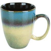 International Tableware 4415-147 Sioux Falls 15 oz. Blue to Tan Stoneware Endeavor Cup - 24/Case