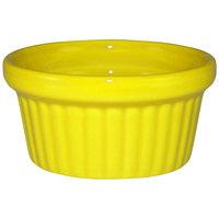 International Tableware RAMF-2-Y Cancun 2 oz. Yellow Stoneware Fluted Ramekin - 36/Case