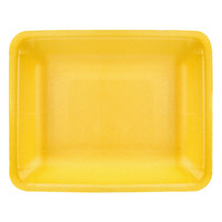 CKF 87899 (#4PR) Yellow Foam Meat Tray 9 1/4 inch x 7 1/4 inch x 1 1/4 inch - 500/Case