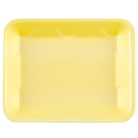 Genpak 1004D (#4D) Foam Meat Tray Yellow 9 1/4 inch x 7 1/4 inch x 1 1/4 inch - 500/Case