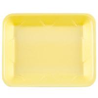 Genpak 1004D (#4D) Yellow 9 1/4 inch x 7 1/4 inch x 1 1/4 inch Foam Supermarket Tray - 500/Case