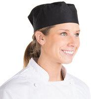 Chef Revival Customizable Black Mesh Top Baker's Skull Cap / Pill Box Hat - Large Size