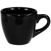 International Tableware CA-35-B Cancun 3.5 oz. Black Stoneware A.D. Demi / Espresso Cup - 36/Case