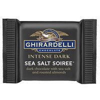 Ghirardelli Intense Dark Individually-Wrapped Sea Salt Soiree Squares - 540/Case
