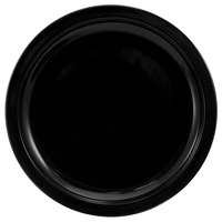 International Tableware CAN-8-B Cancun 9 inch Black Stoneware Rolled Edge Narrow Rim Plate - 24/Case