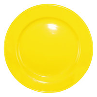 International Tableware CA-16-Y Cancun 10 1/2 inch Yellow Stoneware Rolled Edge Wide Rim Plate - 12/Case
